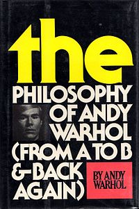 <i>The Philosophy of Andy Warhol</i> book by Andy Warhol