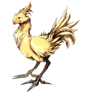 An example of a chocobo from Final Fantasy X.