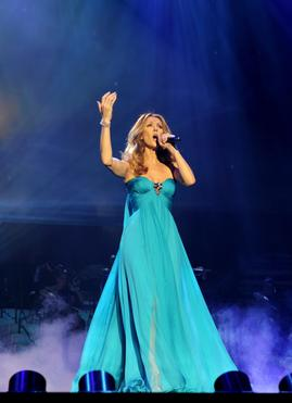 "Celine performing ""My Heart Will Go On"" on opening night. (15 March 2011)"