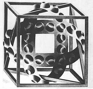 <i>Cube with Magic Ribbons</i>