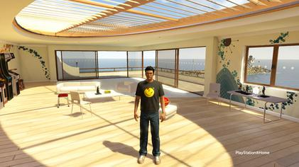 A PlayStation Home avatar in the Harbour Studio personal space. PlayStation Home   Wikipedia