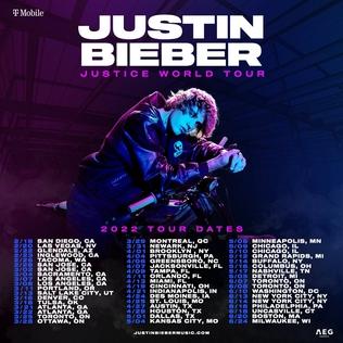 Justice World Tour 2022 concert tour by Justin Bieber