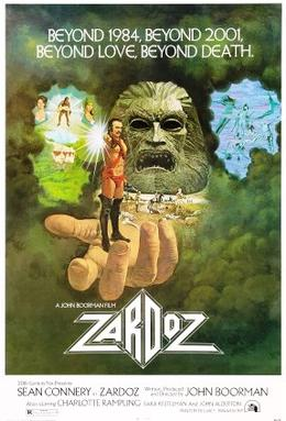 Original movie poster for the film Zardoz