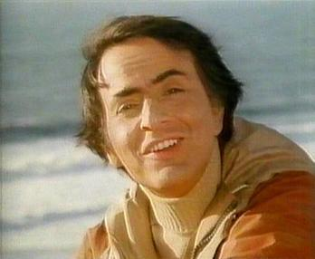 "Sagan in the series' final episode, ""Who ..."