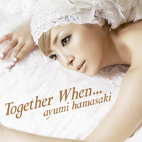 An image of recording artist Ayumi Hamasaki laying on a white bedding sheet, with the song and artists name superimposed on her.