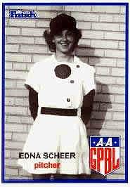 Edna Scheer All-American Girls Professional Baseball League player