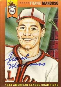 Frank Mancuso American baseball player