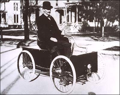 Henry Ford in his Quadricycle Detroit, Michigan, 1896