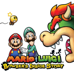 <i>Mario & Luigi: Bowsers Inside Story</i> 2009 role-playing video game published by Nintendo