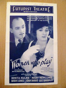 <i>Women Who Play</i> 1932 film by Arthur Rosson