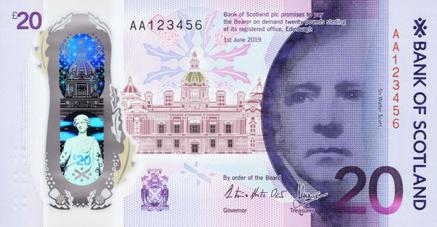 A Bank of Scotland £20 note design (2019)