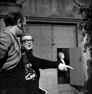 Terence Fisher on a set in the 1960s