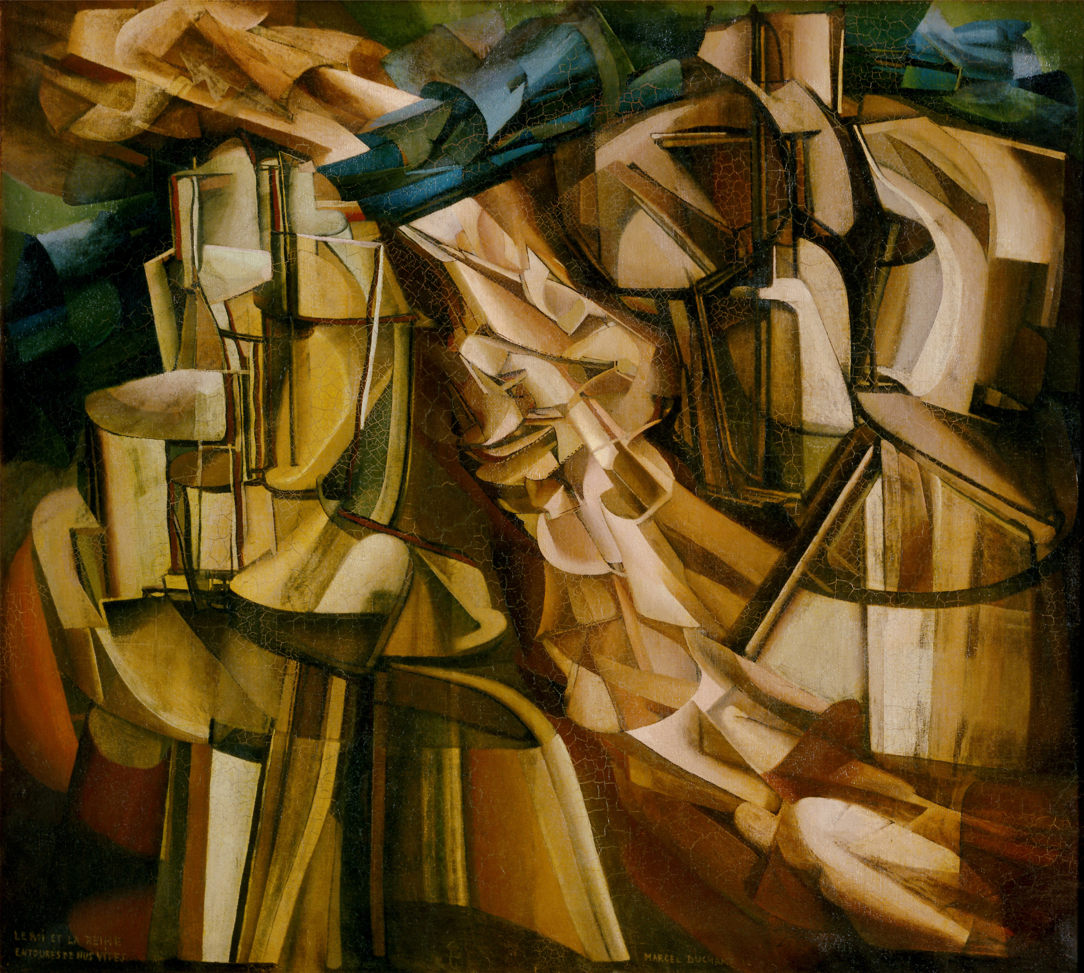 File:Marcel Duchamp, 1912, Le Roi et la Reine entourés de