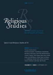 <i>Religious Studies</i> (journal) journal