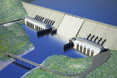 rendering of what the Grand Ethiopian Renaissance Dam will look like