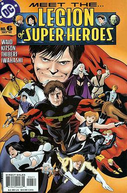 The cover of The Legion of Super-Heroes (vol. 5) #6 (July 2005), featuring the Legionnaires. Art by Barry Kitson.