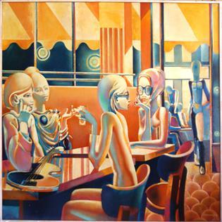 'Le Flore', an historically significant painting about le café le Flore