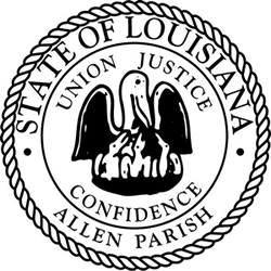 Lousiana State Seal Coloring Page