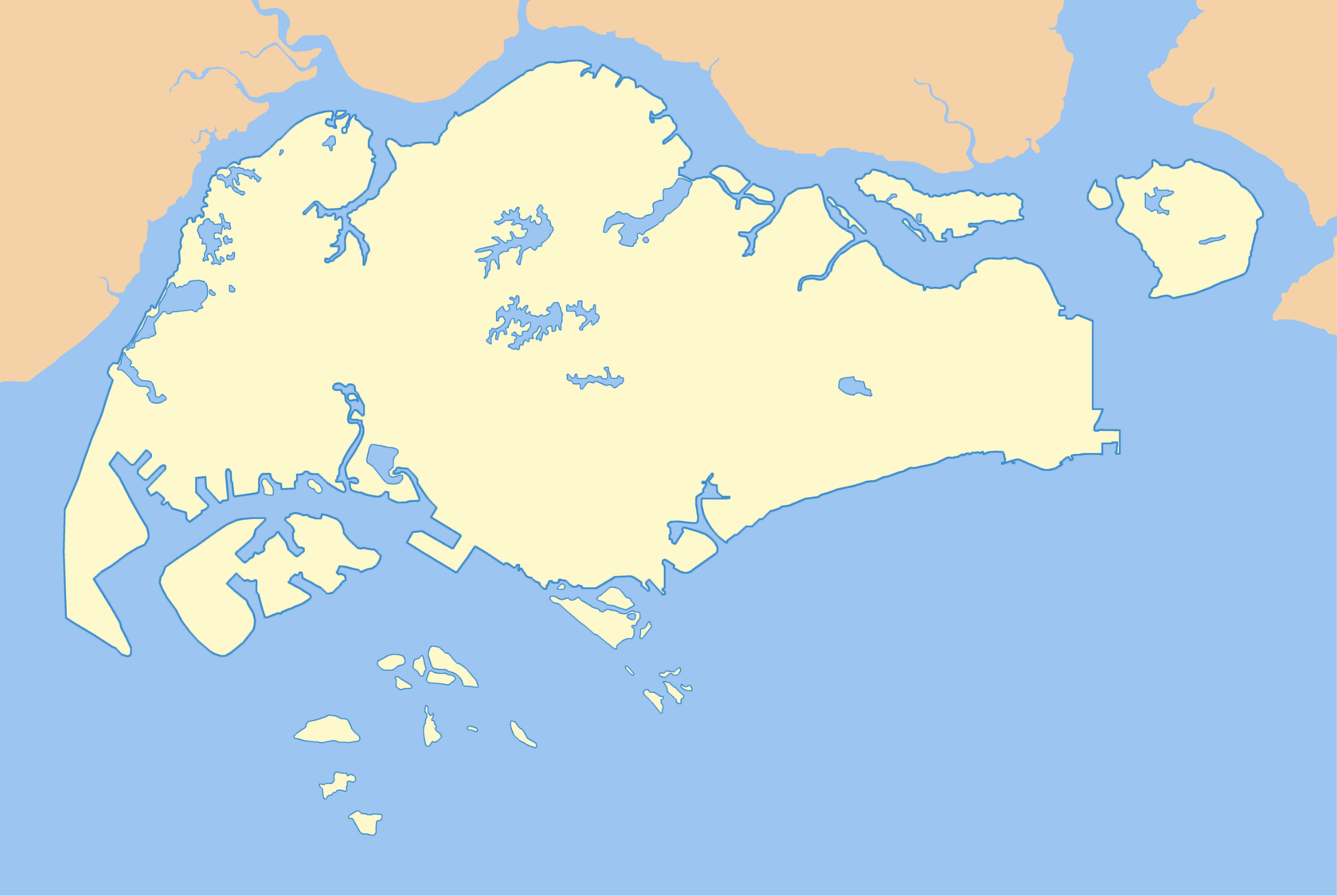 Singapore Map Vector