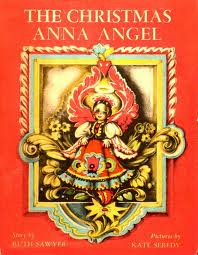 A Photo of the cover of the first edition of the book The Christmas Anna Angel by Ruth Sawyer, which won Kate Seredy the Caldecott Honor Award.