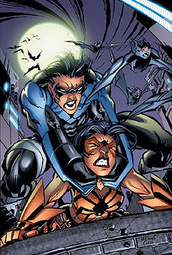 Cover to Nightwing #100 (2004). Art by Scott M...