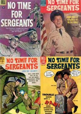 The four comics inspired by No Time For Sergeants
