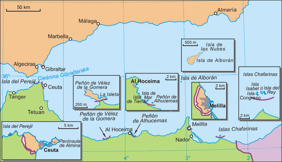 map of gibraltar strait. Straits of Gibraltar.
