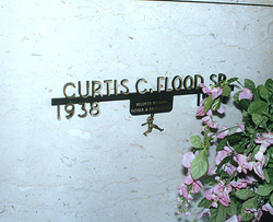 The grave site of Curt Flood.
