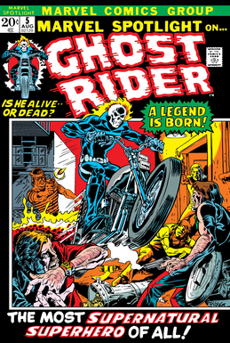 Comic book cover for superhero Ghost Rider
