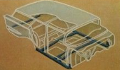 1958 Chevrolet brochure wagon body cutaway