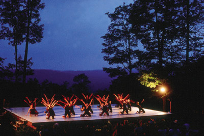An outdoor dance performance at Jacob's Pillow in Becket InsideOutStage.jpg
