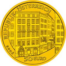 Gold, 50 euro, Wolfgang Amadeus Mozart (2006)