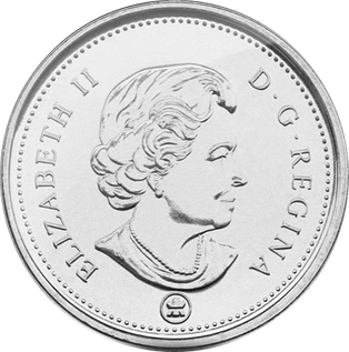 Canadian coin worth 5 cents