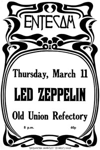 Led Zeppelin United Kingdom Tour Spring 1971
