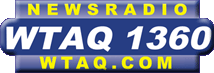 WTAQ's logo prior to the start of the FM simulcast