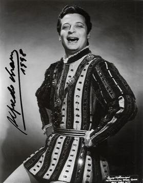 Alfredo Kraus as the Duke in Rigoletto at his Metropolitan Opera debut.