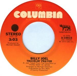 Travelin Prayer 1974 single by Billy Joel