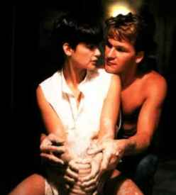 Demi Moore and Patrick Swayze, in one of the m...
