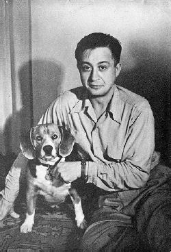 Schmitz ze swoim psem.