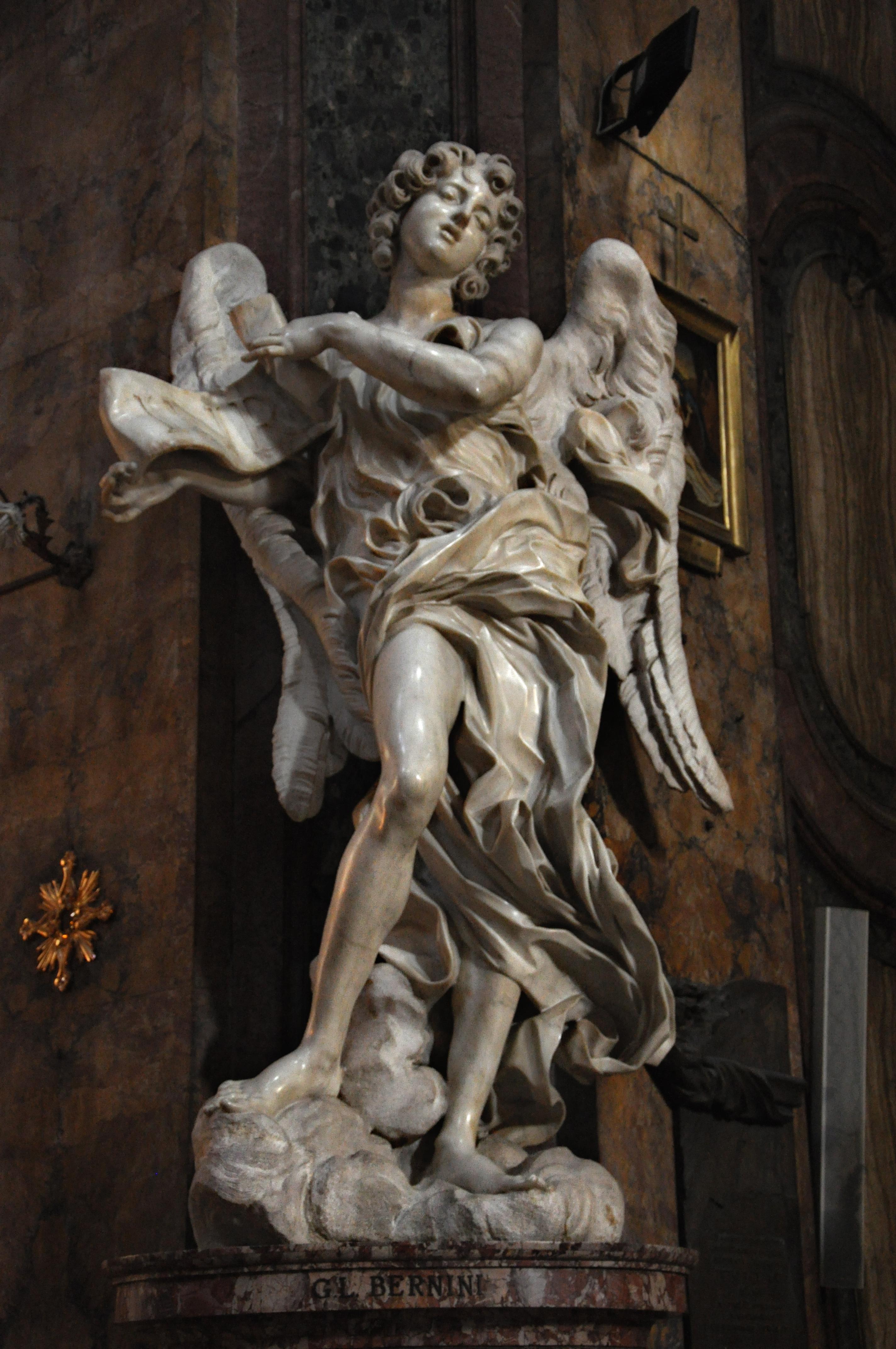 Giovanni Lorenzo Bernini Angel_-_Bernini_-_Sant'Andrea_delle_Fratte