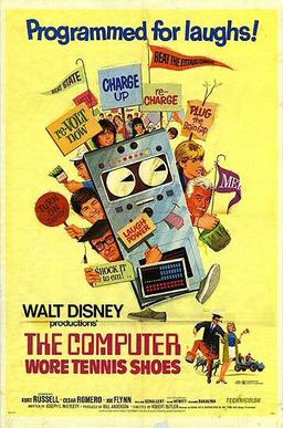Image result for THE COMPUTER WORE TENNIS SHOES ( 1969 ) POSTER