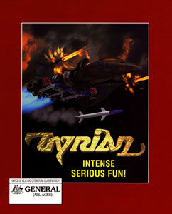 The Australian cover artwork of Tyrian