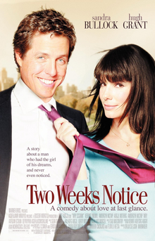 Film poster for Two Weeks Notice - Copyright 2...