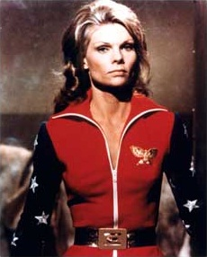 Cathy Lee Crosby as Diana Prince in the pilot ...