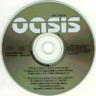 2000 song performed by Oasis