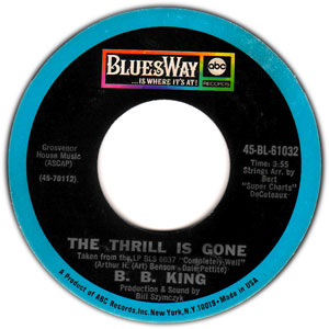 "Picture of the 7"" single for B.B. King's ..."
