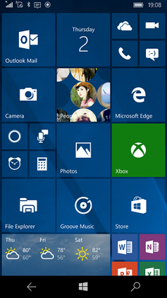 windows 10 mobile homescreenpng screenshot
