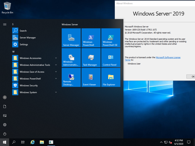 Download Windows Server 2019.