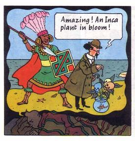 Tintin Is Shown Dreaming In His Dream We See Calculus Dowsing Towards A Plant That