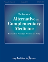 Image result for J Altern Complement Med.